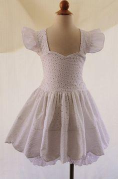 Flower girl dress, Beach Wedding.........  Girls Scalloped Top/Petticoat Pants Sz 6mo 6yrs: Outtahand Creations Boutique