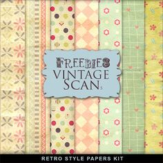 Freebies Kit of Retro Style Papers