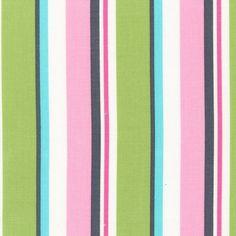 ORGANIC Little One fabric by Katie Hennagir for Robert Kaufman, Stripe in Sweet Pea-1 Yard.