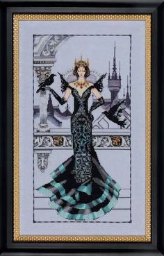 THE RAVEN QUEEN - Mirabilia Cross Stitch Pattern Needlework Pattern - Fantasy Cross Stitch Pattern - Queen Cross Stitch Pattern  Item Id: MB-MD139  Mirabilia Designed by: Nora Corbett  Stitch count: 150 x 280  ** Listing is for the pattern only, not a kit or finished design **  Become a fan on Facebook for updates on sales, promotions and new items! http://www.facebook.com/TheAngelsNook