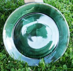 Emerald & Jade Green Clay Dinner or Serving Plate Dish. $9.50, via Etsy at www.etsy.com/shop/bethpiggott