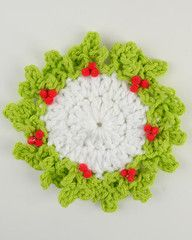 http://www.maggiescrochet.com/pages/holly-coaster-free-crochet-pattern