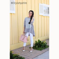 8894463c6f8 White Pumps and Ruffles -- I would prefer the ruffly top in a different  color