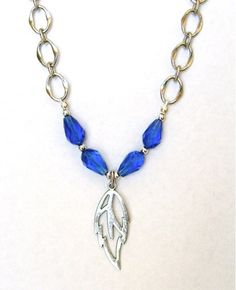 sapphire-and-silver-leaf-necklace