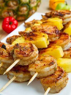 Pineapple-Glazed Shrimp Skewers Recipe by Chow | Maypurr