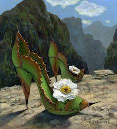 Sierra Madre Spikes by Carolyn Schmitz Funeral Floral Arrangements, Flower Arrangements, Hot Lips Plant, Cactus Pictures, Fairy Shoes, Desert Fashion, Desert Art, Flower Shoes, Plant Art