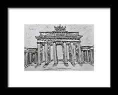 Brandenburg Gate, Berlin Framed Print by Kelly Goss Brandenburg Gate, Famous Landmarks, Wall Art For Sale, Wild Dogs, Framed Prints, Art Prints, Travel Memories, Berlin Germany, Great Artists