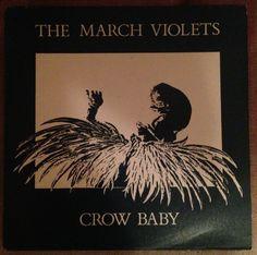 """March Violets - Crow Baby, 12"""" vinyl, Rebirth records #vinyl #goth"""