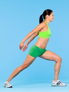 The Victory Lunge #exercise works your abs, arms, back and legs. #fitness