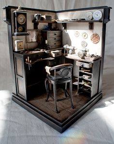 Miniature Clockmakers Workshop. by MiniatureTreasures