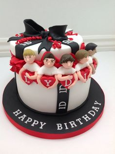 A One Direction Present Birthday Cake by Fancy Fondant