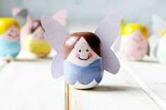 DIY tooth fairy container made from kinder surprise eggs.