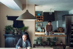Heath Ceramics Tile, Japan Architecture, Interior Decorating, Interior Design, Asian Style, Home Furnishings, Ceiling Lights, Living Room, House