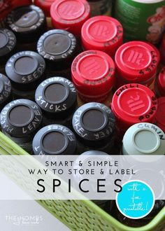 Smart & Simple Ways to Store & Label Spices
