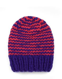 The Zion Lion hat is a signature Wool and the Gang style. Wear it with your head held high and with all the magnetism of a jungle queen! The Zion Lion is made unique by Bintou in 100% Crazy Sexy Wool in Candy Red and Ultra Violet.
