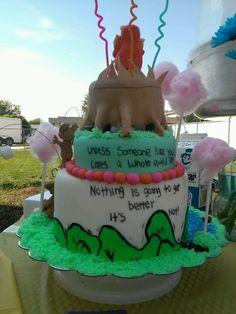 Lorax cake back