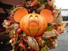 Mickey Mouse Pumpkin Wreath