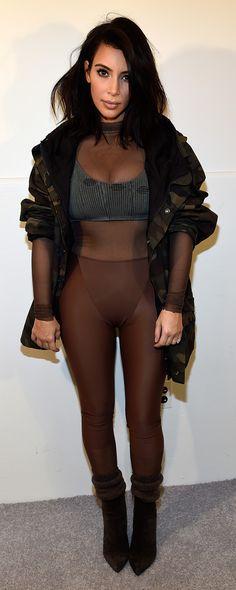 Kim Kardashian at the Kanye West x Adidas Originals Yeezy Season 1 show #NYFW #FashionWeek