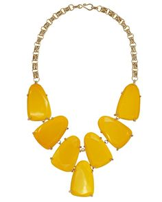 Harlow Statement Necklace in Yellow - Kendra Scott Jewelry Yellow Necklace, Yellow Jewelry, Bead Store, Bridesmaid Flowers, Kendra Scott Jewelry, Mellow Yellow, Statement Jewelry, How To Look Pretty, Ear Piercings