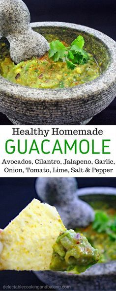 A Guacamole recipe that does not include sour cream. Plus, it's so quick and easy there's just no excuse not to make it (or more!).