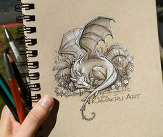Smaugust day 23 by Kamakru on DeviantArt - Lombn Sites Fantasy Drawings, Art Drawings, Baby Dragon Tattoos, Eyes Artwork, Dragon Sketch, Dragon Artwork, Arte Sketchbook, Dragon Pictures, Cute Dragons