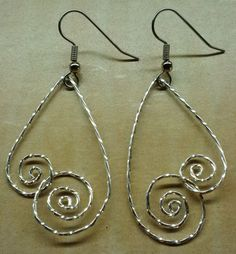 Handmade Wire Wrapped Earrings Wire by KimsSimpleTreasures on Etsy, $12.00