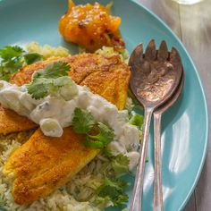 Tilapia gets an Indian twist in this easy recipe with curry spices and a raita topping. Bonus: it's ready in just 25 minutes.