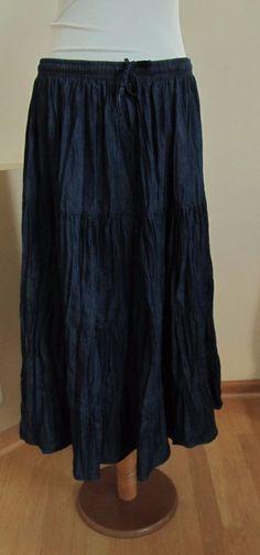 Studio West Apparel Skirt L 12 14 Chambray blue Modest ...