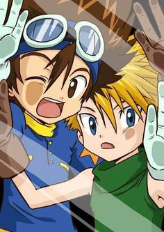 Digimon 01 Tai and Matt