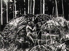 Indigenous Shelter (three) - Aborginal Environments Research Centre site at The University of Queensland