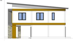 Small Home Design Plan with 3 Bedrooms - SamPhoas Plan Simple House Design, Granny Flat, Home Design Plans, Diy Dollhouse, Home Projects, House Plans, Bedrooms, Villa, Construction
