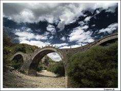 Kalogeriko Old Bridges, View Image, Cool Photos, Greece, River, Stone, Rocks, Rivers, Grease