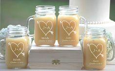 Mason Jars with Handles 12 Personalized by UrbanFarmhouseTampa