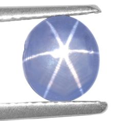 1.59 Cts Natural Amazing Blue Star Sapphire Oval Cabochon Unheated Video Burma $ #Unbranded