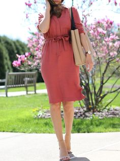 Lilly Style: Belted dress