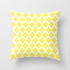 CLOVER QUATREFOIL LEMON Throw Pillow by MY PRETTY HOME by Monika Strigel - $20.00
