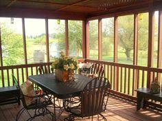 small screen porch decorating ideas | small screened porch design