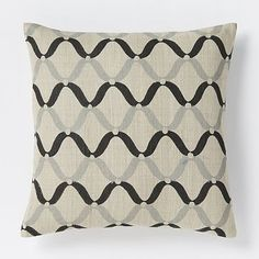 Hand-Blocked Ogee Pillow Cover – Slate #westelm