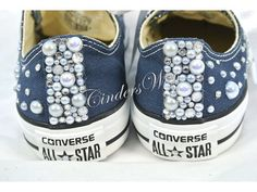 Pearl Converse / Wedding converse / Bridal chucks / by CindersWish
