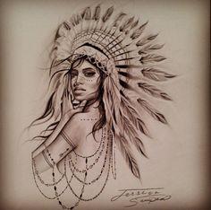Indian princess tattoo.
