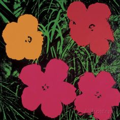 Flowers, 1964 (Red, Pink and Yellow) Print by Andy Warhol - at AllPosters.com.au