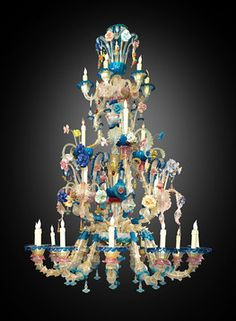 Wow, love this~venetian glass chandelier