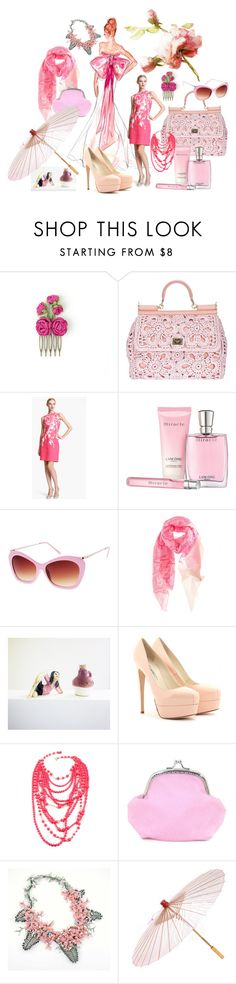 """""""Floral Touch"""" by pinaradesign ❤ liked on Polyvore featuring Dolce&Gabbana, Naeem Khan, Lancôme, ASOS, By Malene Birger, Brian Atwood, Amrita Singh and Brelli"""