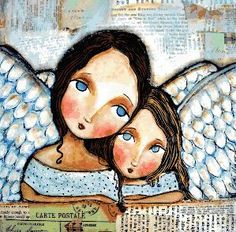 Shop for angel art from the world's greatest living artists. All angel artwork ships within 48 hours and includes a money-back guarantee. Choose your favorite angel designs and purchase them as wall art, home decor, phone cases, tote bags, and more! Art And Illustration, Illustrations, Kunstjournal Inspiration, Art Journal Inspiration, I Believe In Angels, Angels Among Us, Jolie Photo, Angel Art, Whimsical Art