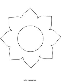 Visit the post for more. Big Flowers, Spring Flowers, Flower Ideas, Flower Patterns, Sunflower Template, Color Sheets, Crafts For Kids, Diy Crafts, Fabric Jewelry