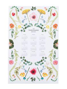 2014 Scandinavian floral calendar