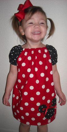Disney Minnie Mouse Peasant Dress. $28.00, via Etsy.