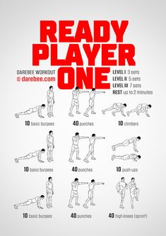 NEW: Ready Player One Workout  #darebee #workout #fitness