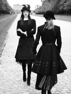 Clarice Vitkauskas black look for Harrods November 2015 Photoshoot