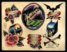 Image result for batman flash tattoo